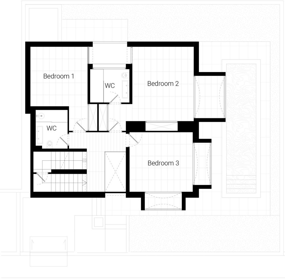 Floor plan: second floor