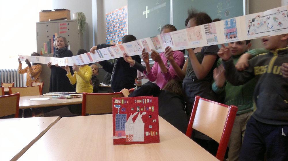 2012- Avec l'Institut Emile André dans les Marolles, projet Notre Imagier de la maison et de la ville (projet Anim'action)