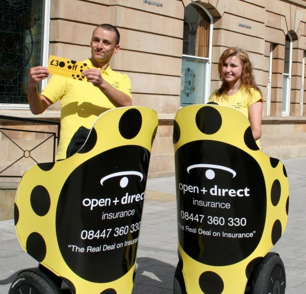 I Love Mondays Segways grabbing attention for Open & Direct Insurance