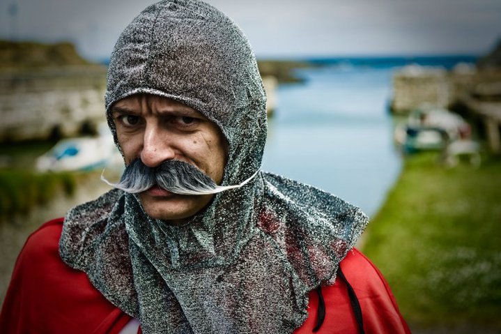 During filming of video campaign for adventure company - took me 13 days to grow that moustache