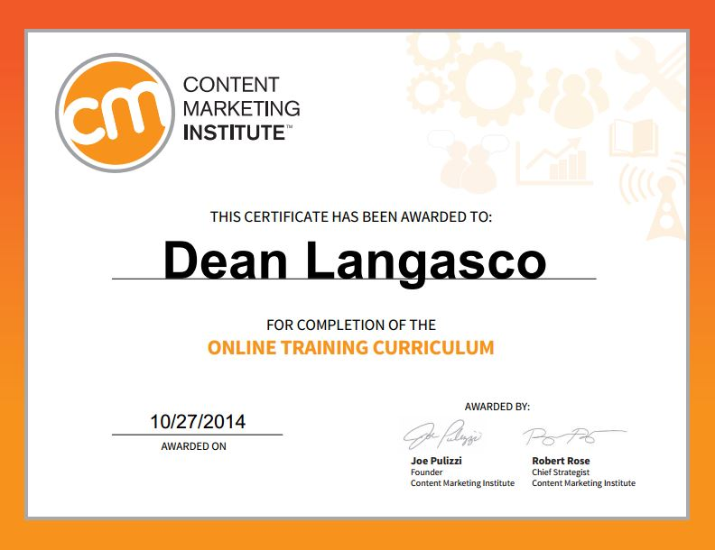 The Content Marketing Institute is fantastic - check it out for yourself if you're interested in Content Marketing as a career or want to improve the results you're getting from your content.