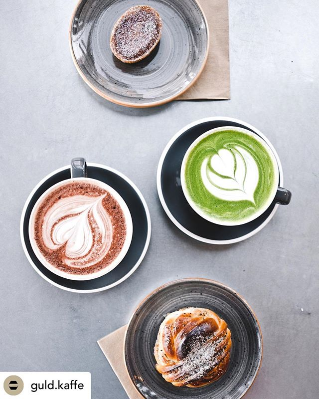 Repost från @guld.kaffe  Matcha latte🍵🍵🍵 #matcha  #matchalatte  #vasastan #vasaparken