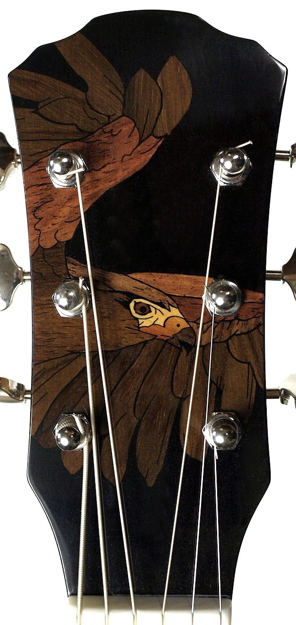HAWK HEADSTOCK INLAY