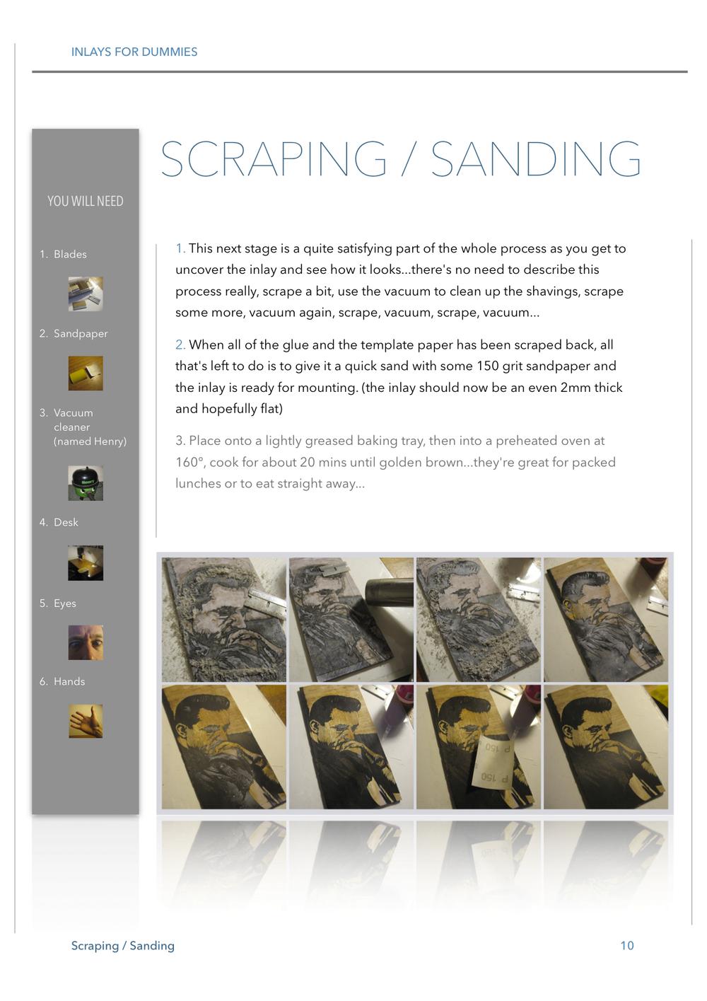 10 SCRAPING / SANDING