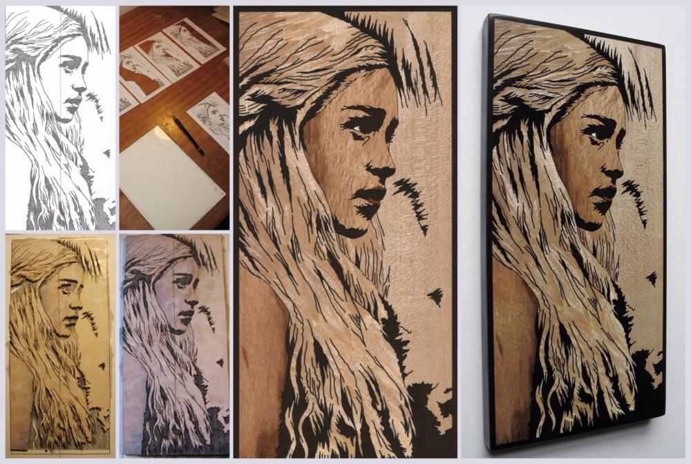 Daenerys Stormborn inlay page