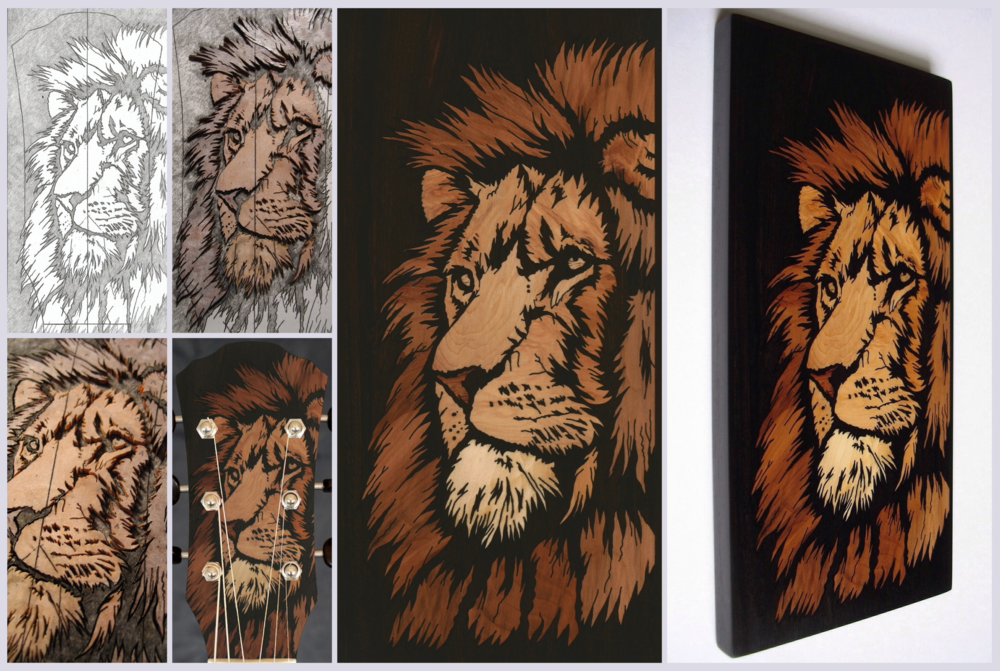 Lion inlay