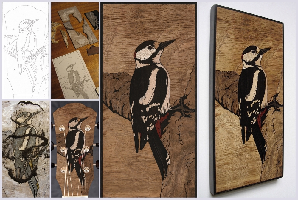 Great Spotted Woodpecker Inlay 2