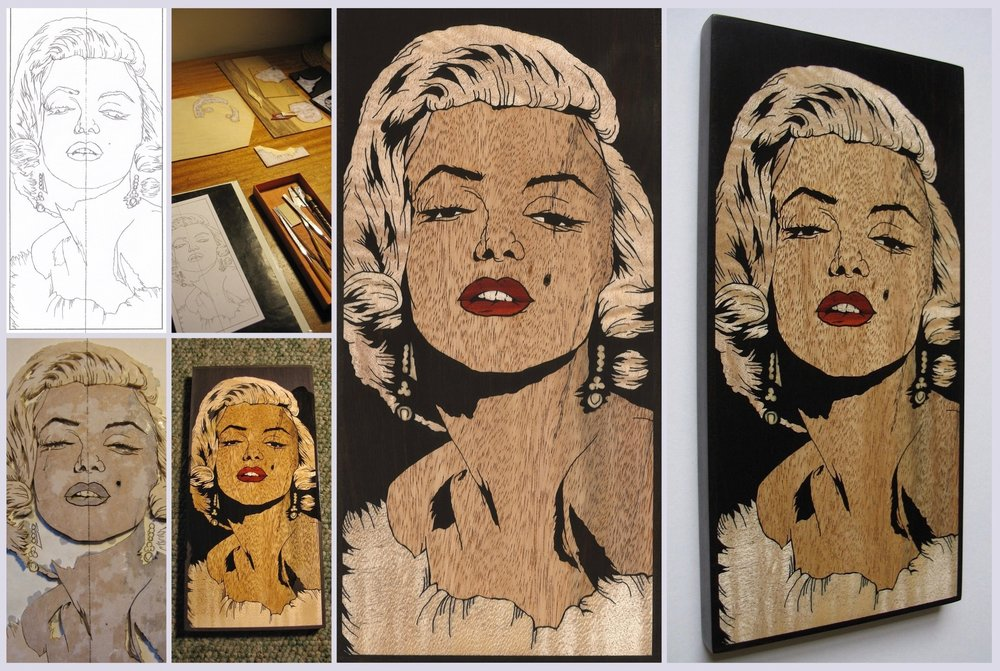 MARILYN MONROE inlay