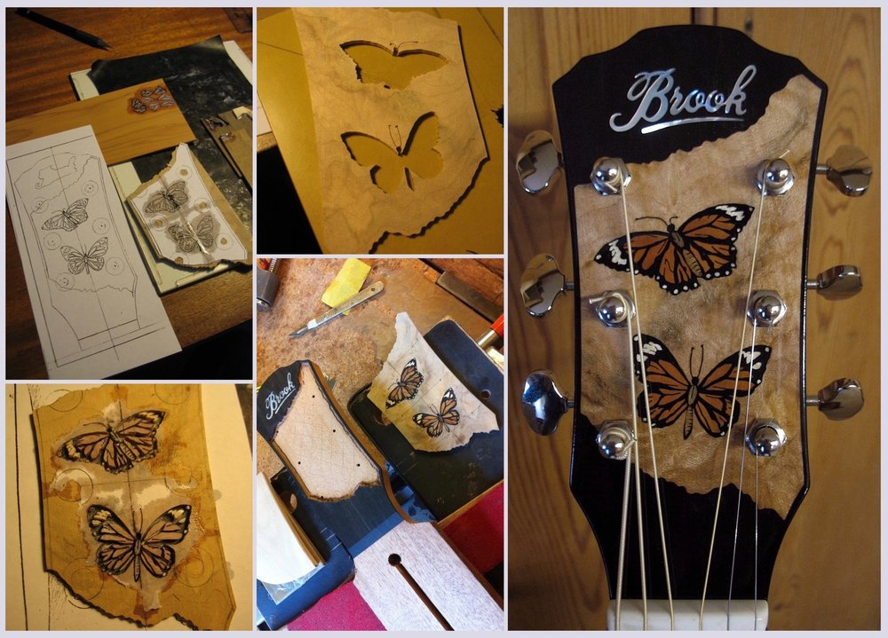 Butterflies headstock Jan 2018