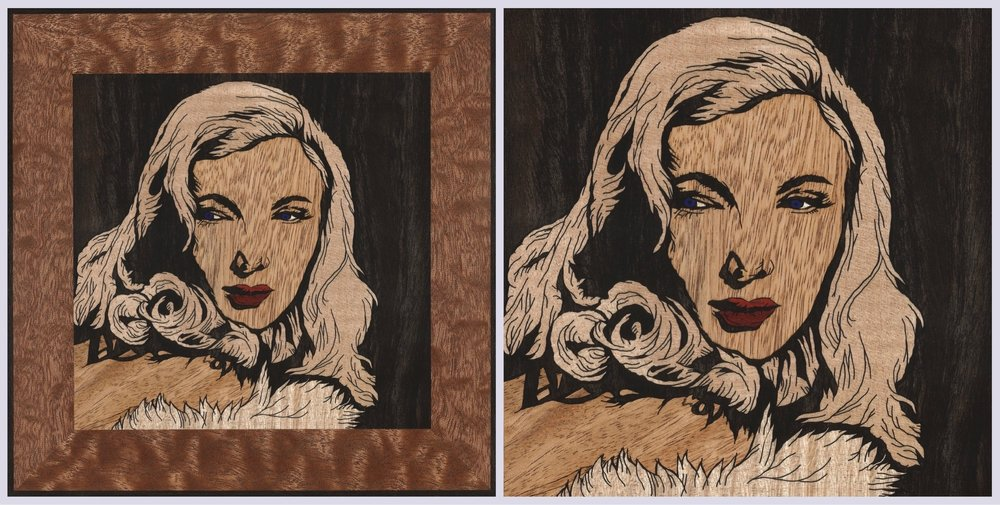 Veronica Lake Square x2