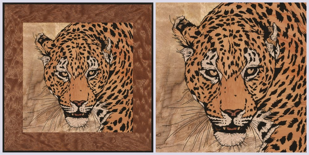 Leopard inlay scan