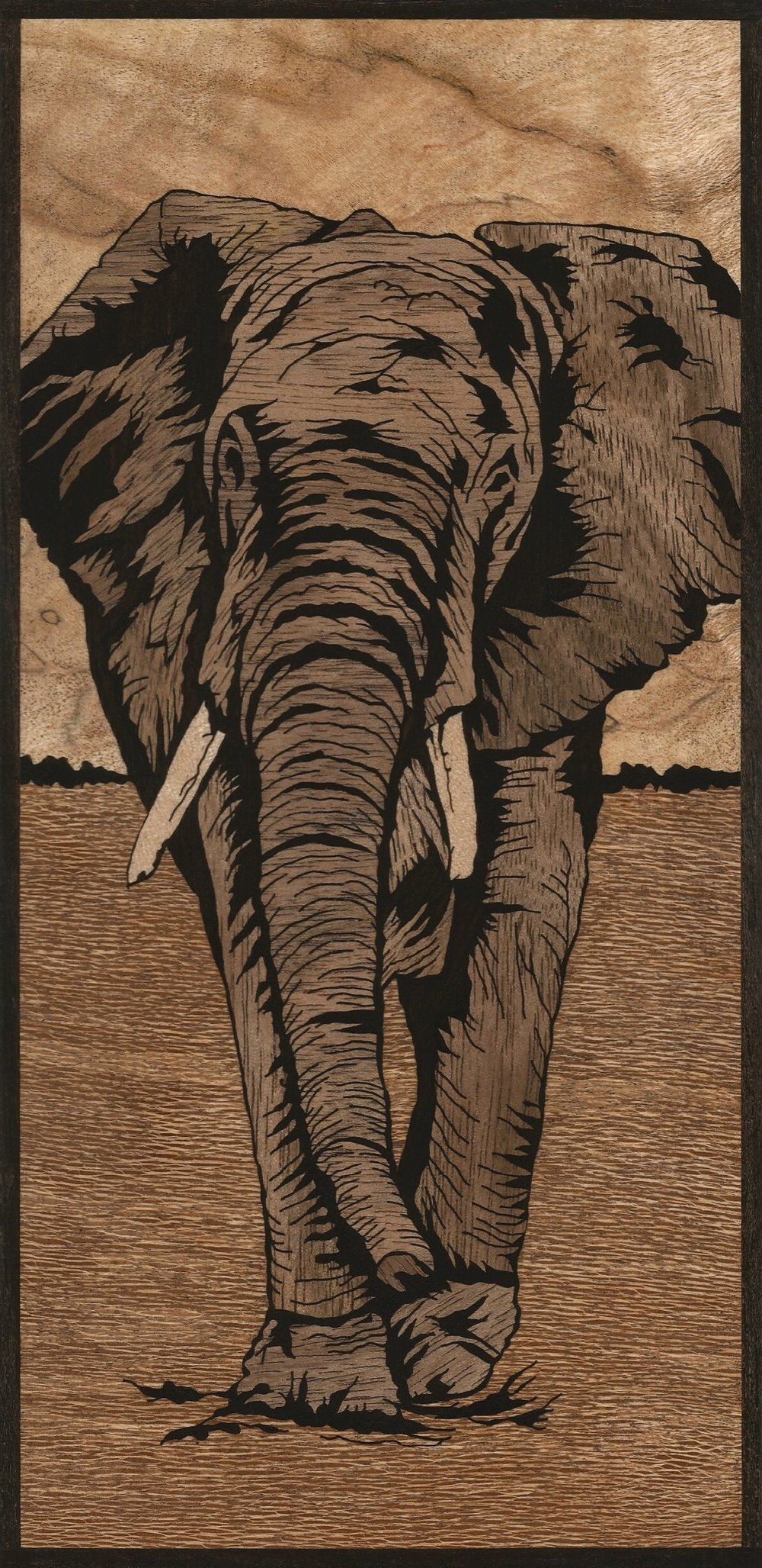 African Elephant Inlay
