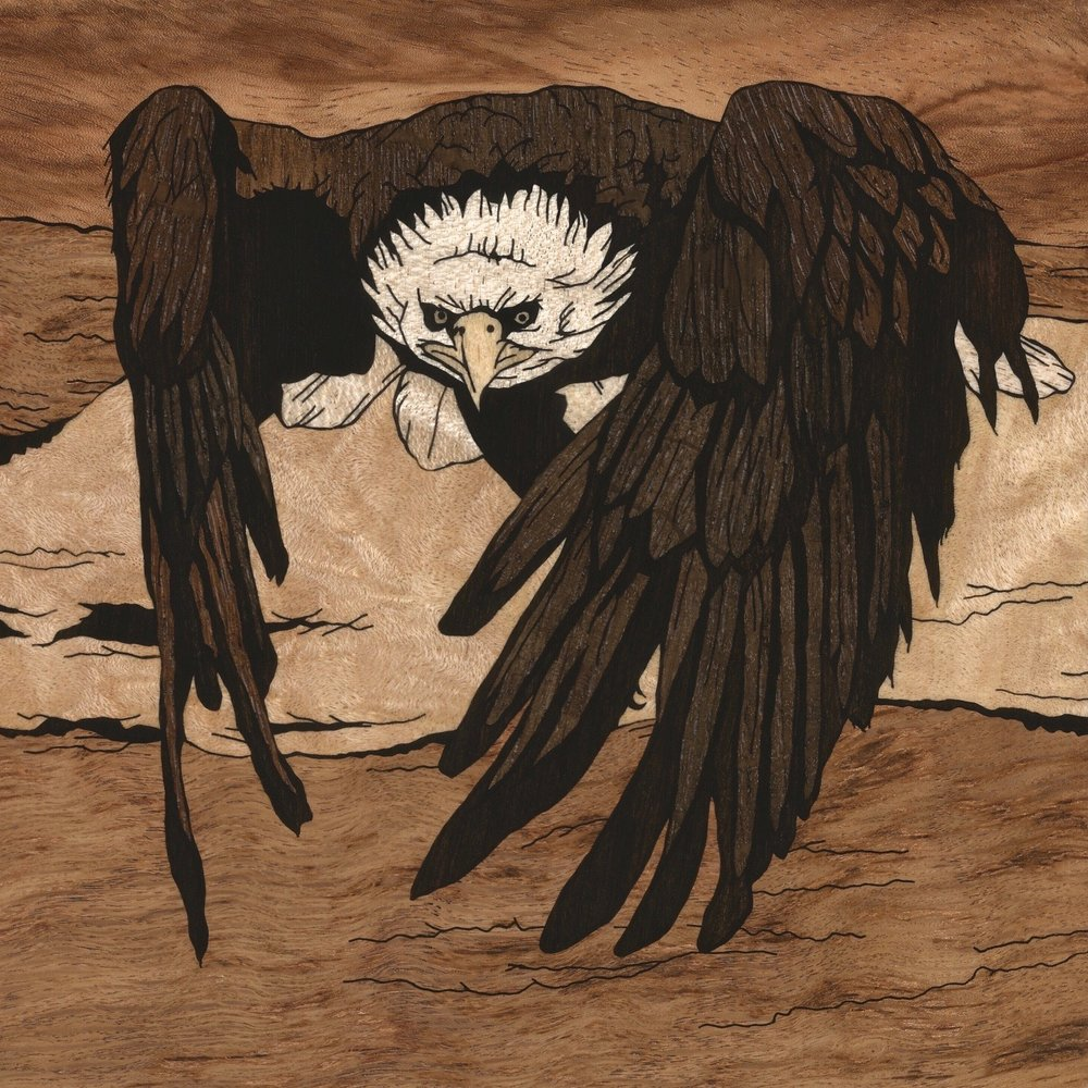 BALD EAGLE OVER WATER INLAY