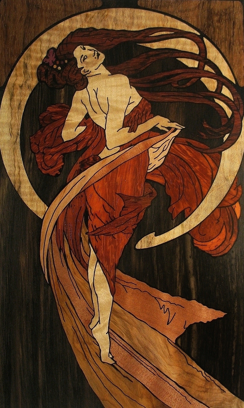 ALPHONSE MUCHA DANCE LARGE INLAY