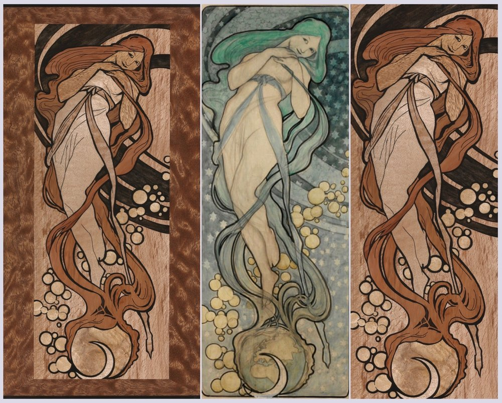 mucha - job inlay