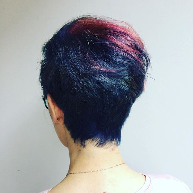 Change is healthy. Cut by @elliottjacquehair, coloured by me. . . . #northernquarter #manchestersalon #manchester #rcnq #pixiecut #bluehair #pinkhair #purplehair #wella #wellahair #wellatoner #wellacolour #haircolor