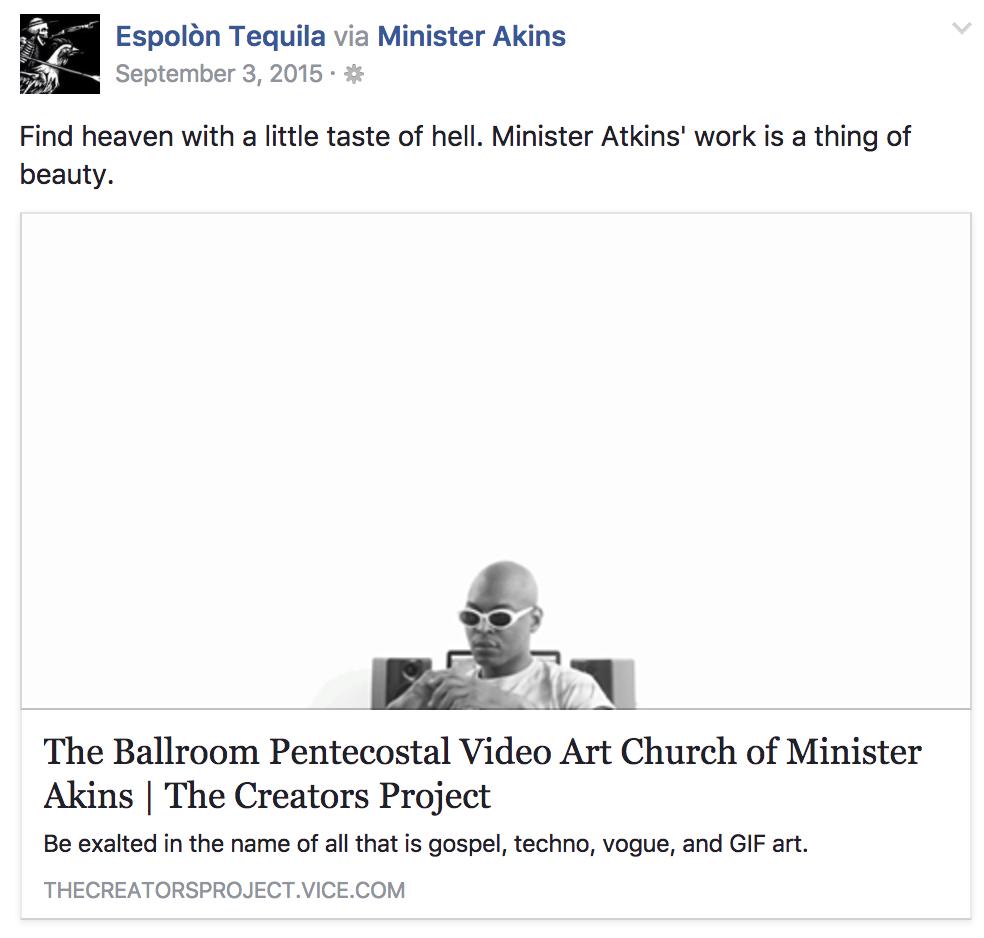 Minister Akins x Espolon