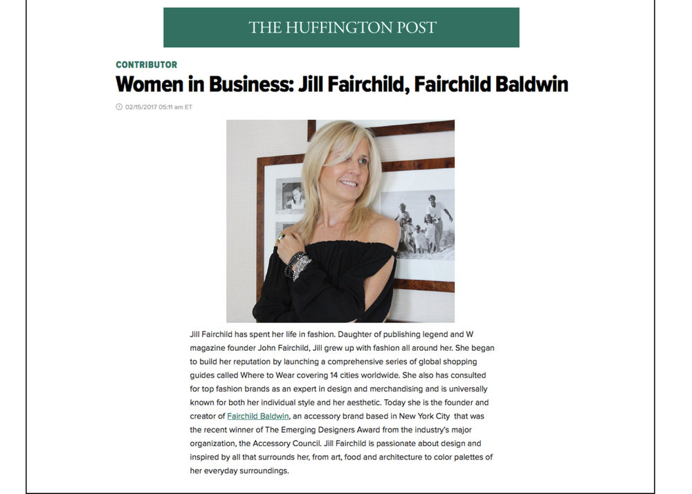 Huffington Post article : Women in Business. Feb Issue