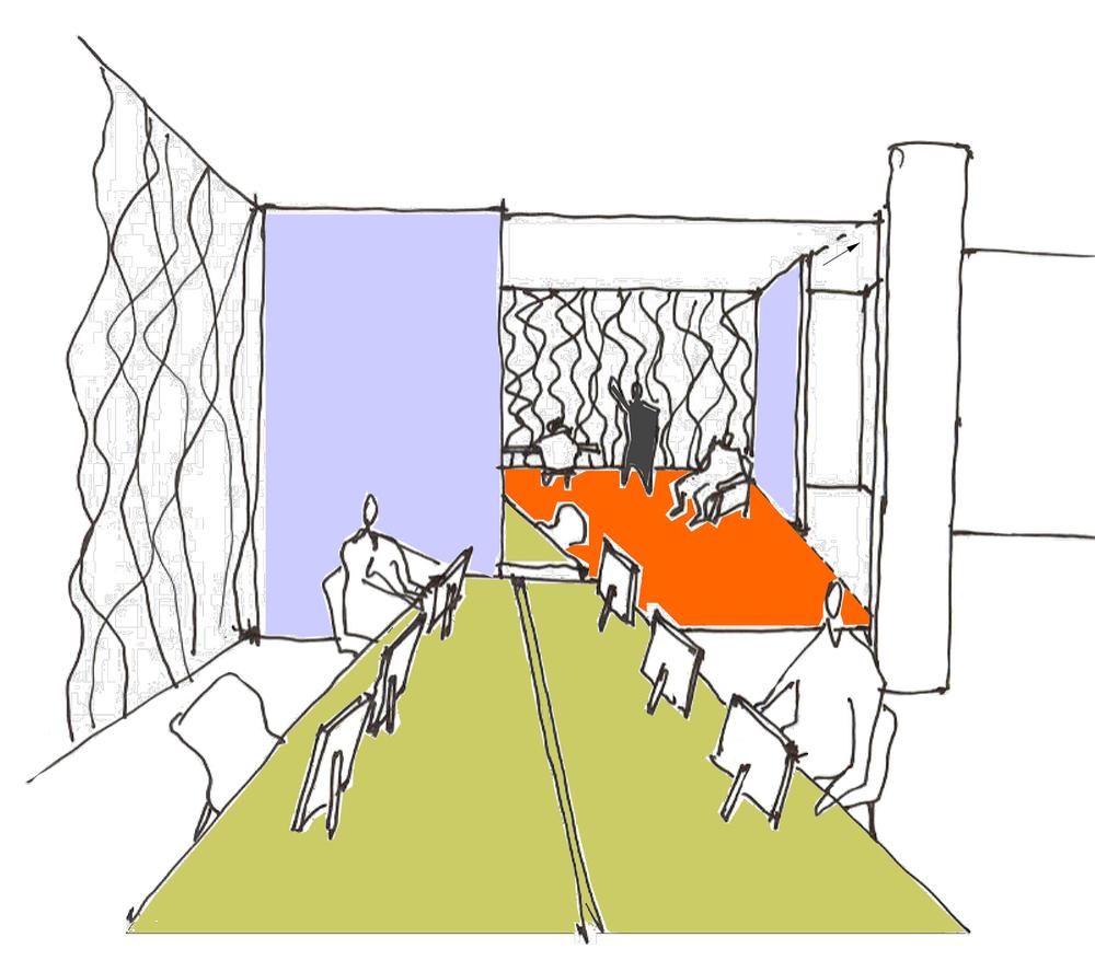 ACHA, FX Studio, Office, Concept Sketch