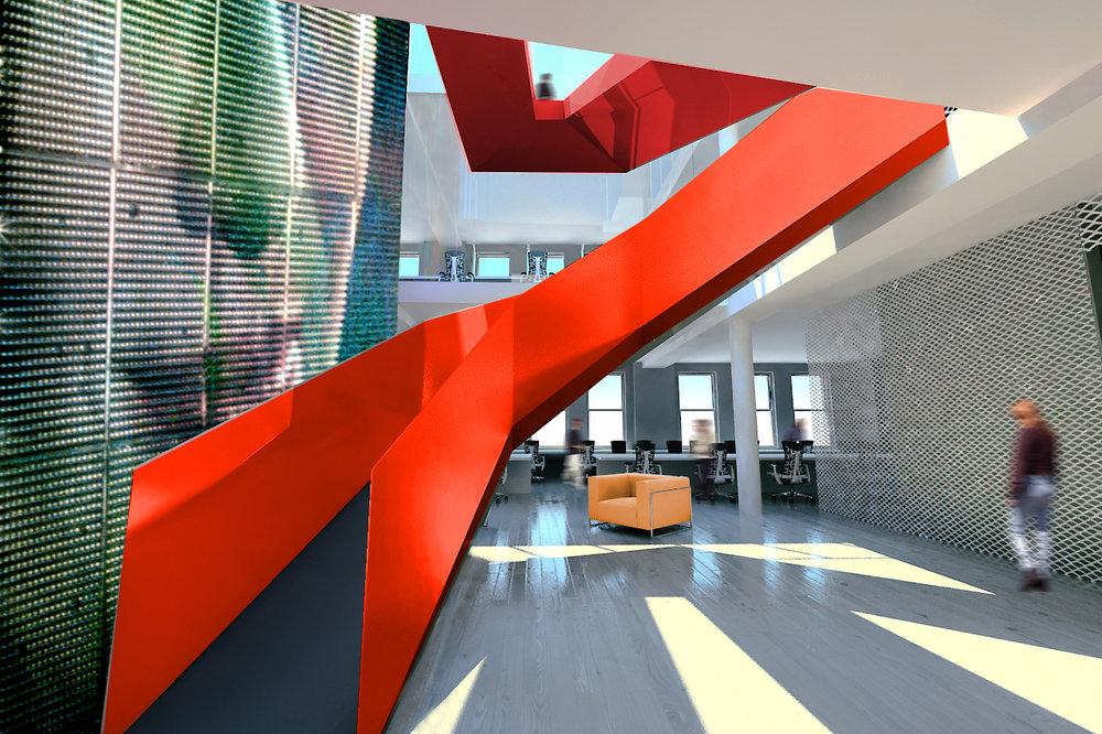 ACHA, FX Studio, Red Staircase, Rendering