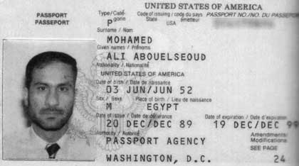 Ali Mohamed's US Passport