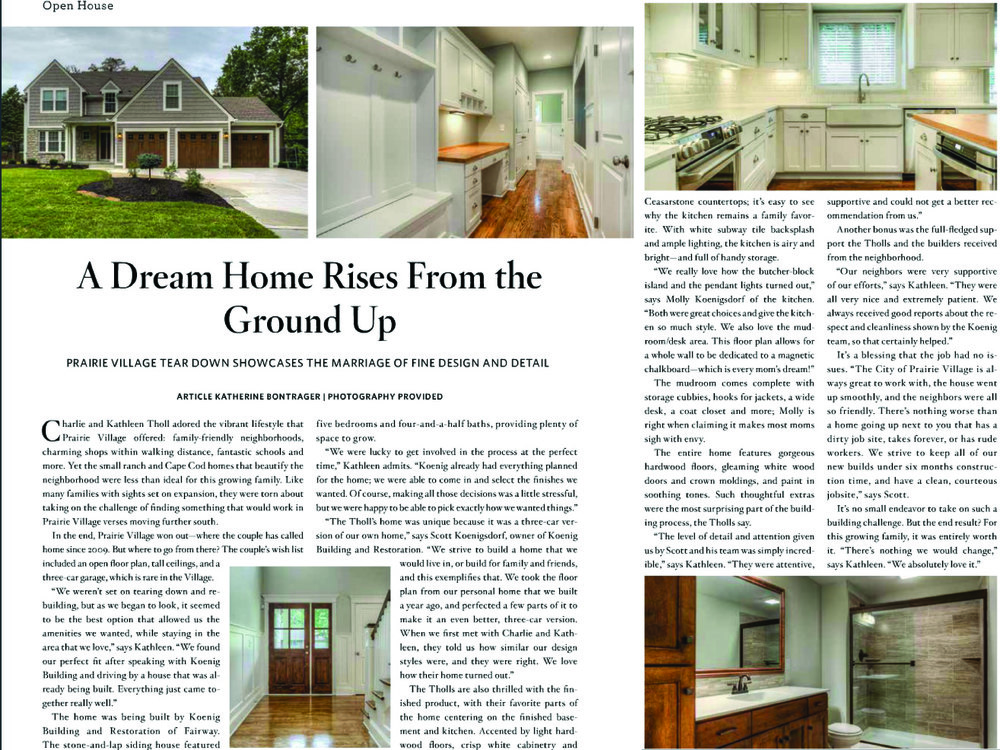 Leawood Lifestyle Magazine Feature Nov 2014