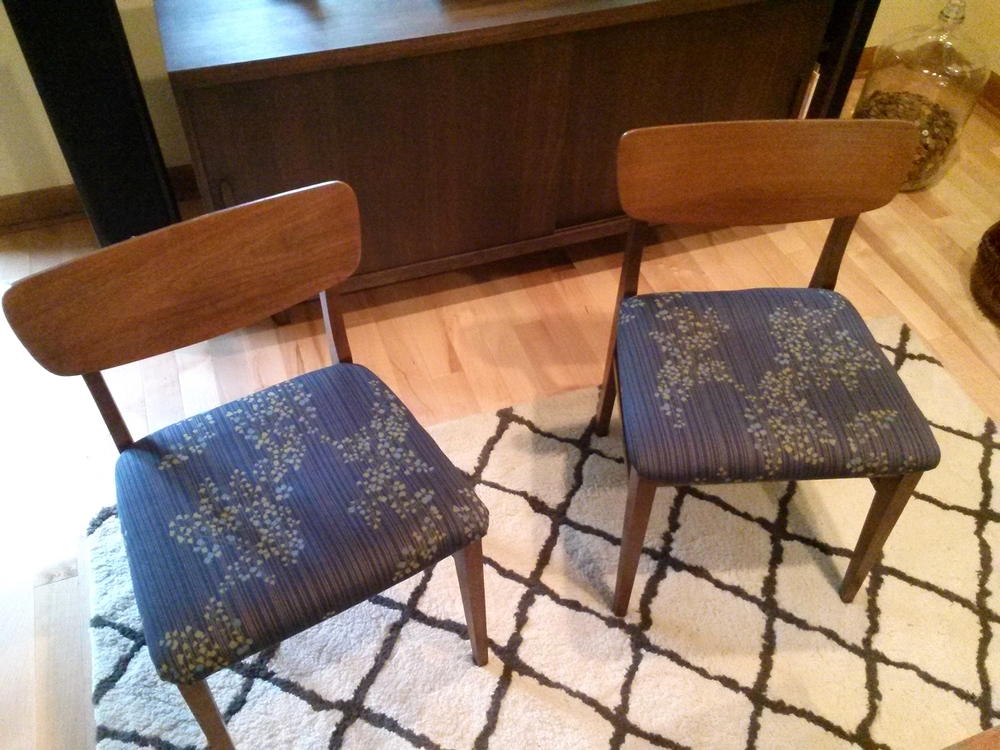 Re-covered vintage chairs