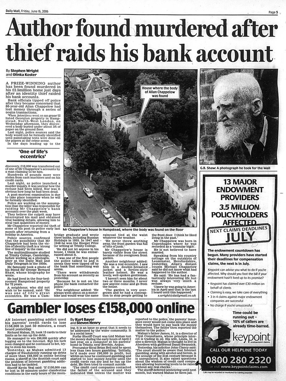 Daily Mail 16 June 2006