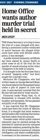 Evening Standard 13 December 2007