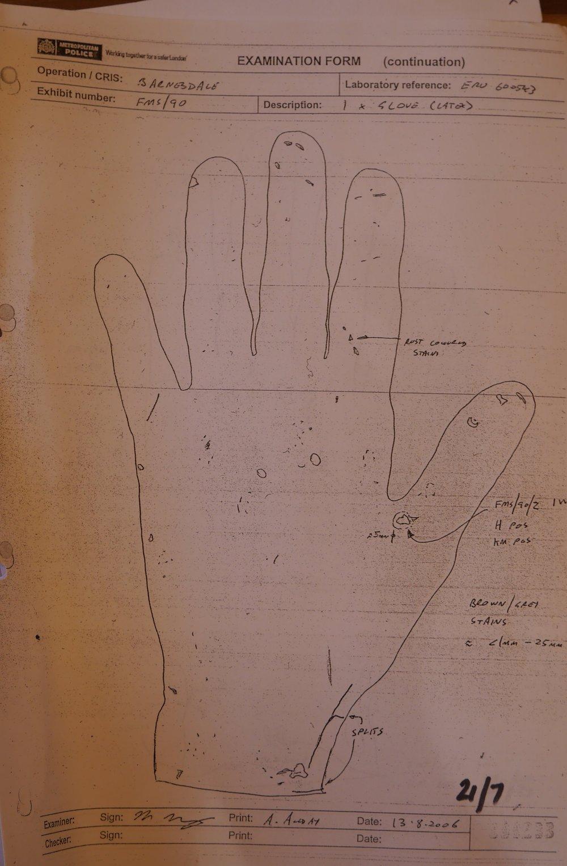 Tom Carr's glove