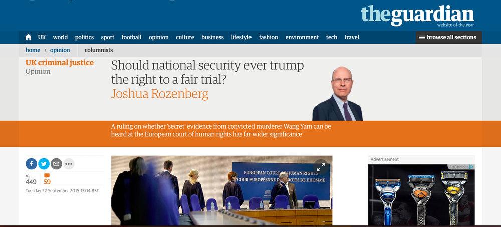 Guardian 22 September 2015