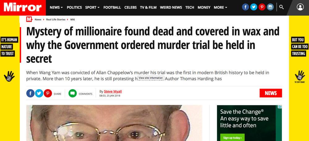 Daily Mirror 25 January 2018