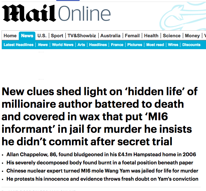 Daily Mail 25 January 2018