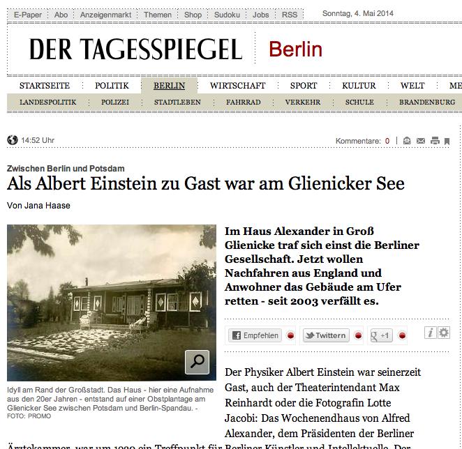 Der Tagesspiegel 4.5.2014
