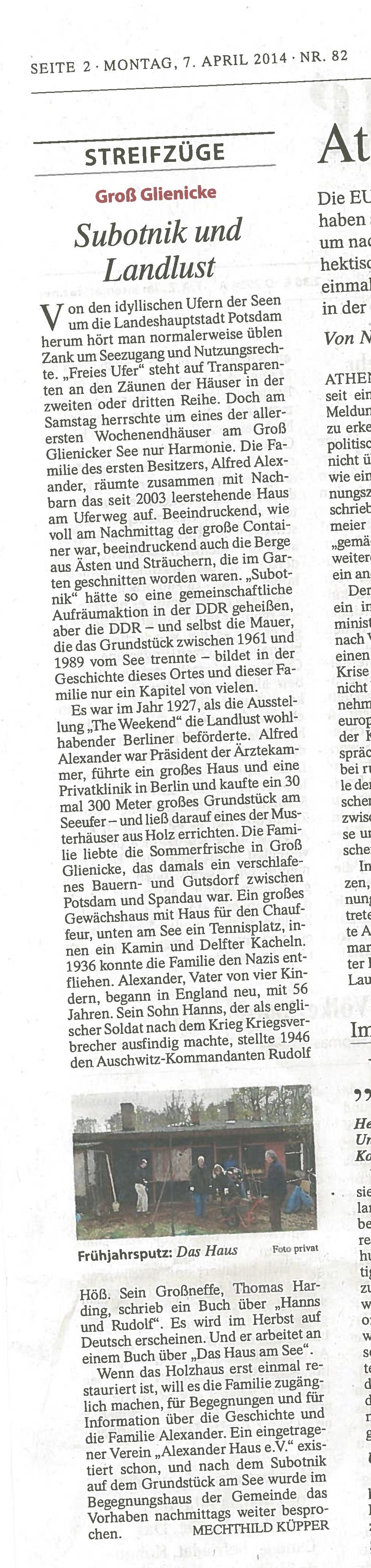 Frankfurter Allgemeine Zeitung 7.4.2014