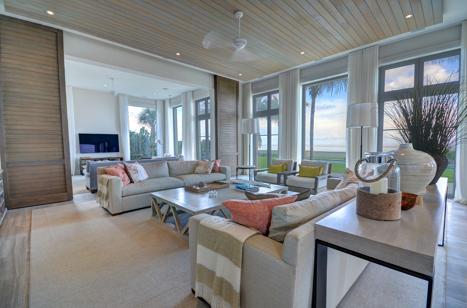 Five Private Custom Homes Designed By Brennan Spanning The Full Depth Of Exclusive Western End Paradise Island Bahamas From Beachside
