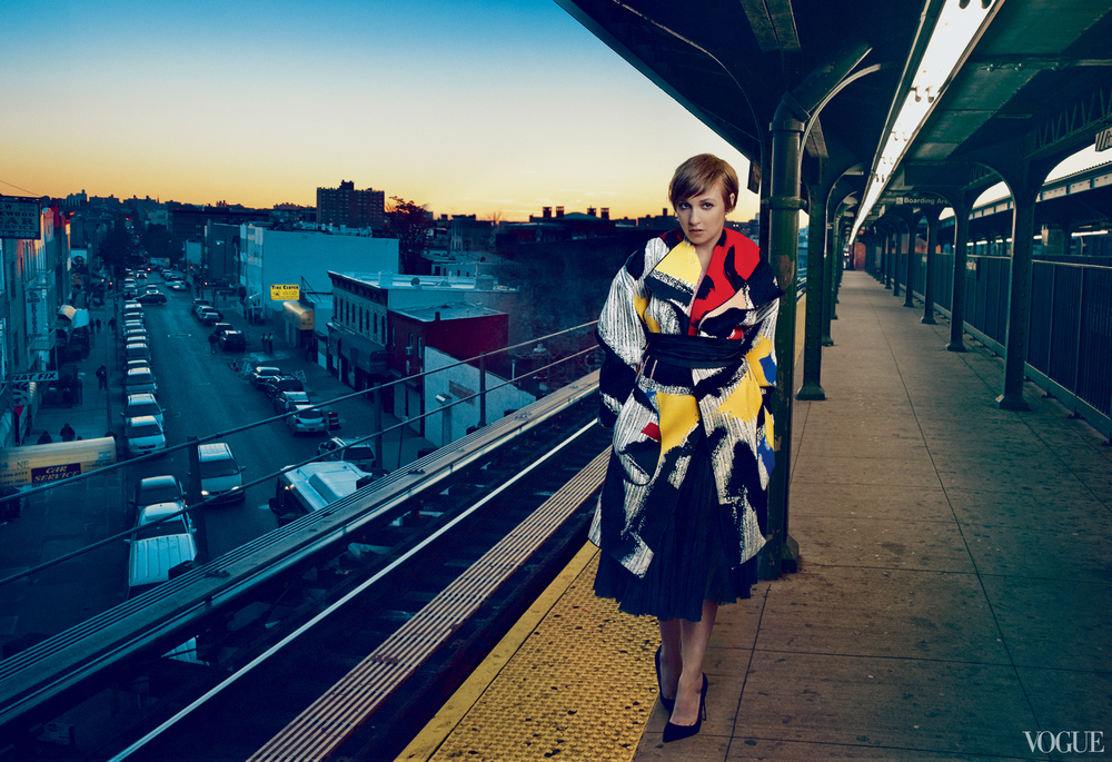 Vogue February 2014  Lena Dunham  Photographed by Annie Leibovitz  Styled by Tonne Goodman