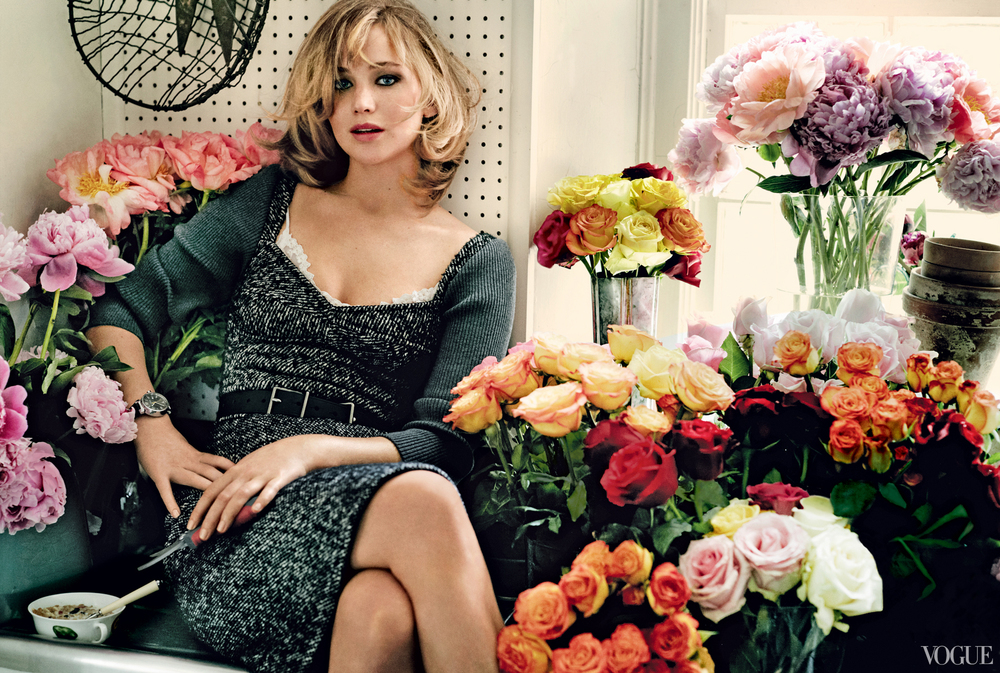 Vogue September 2014  Jennifer Lawrence  Photographed by Mario Testino  Styled by Tonne Goodman
