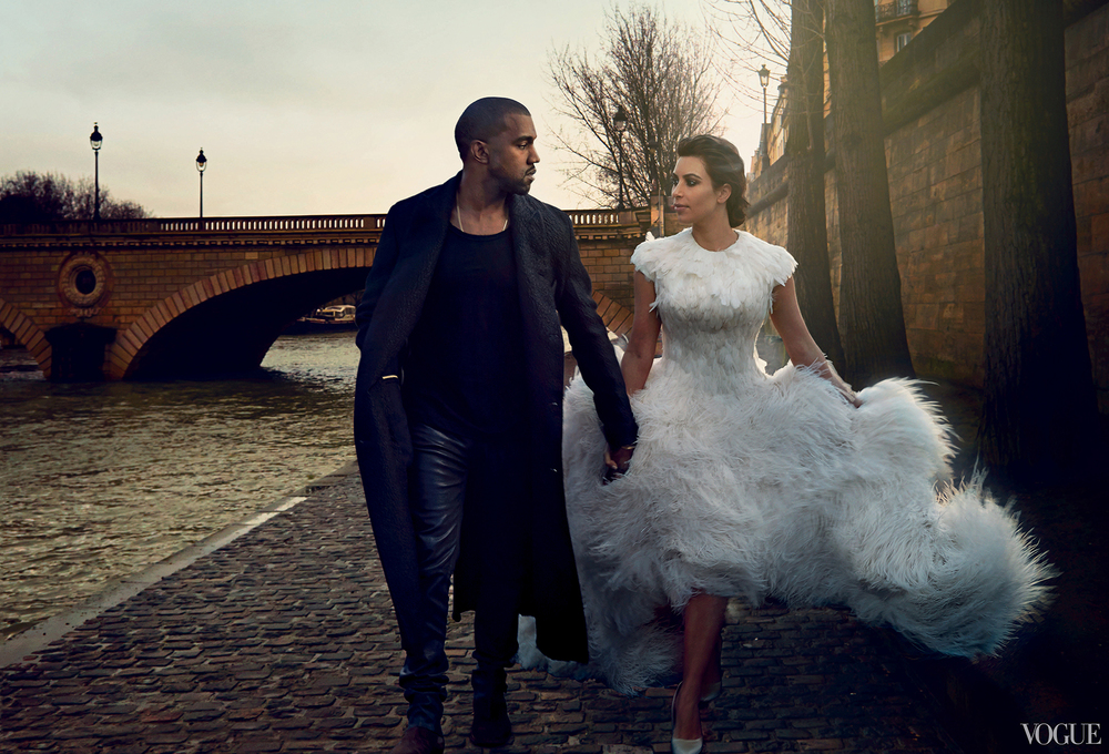 Vogue April 2014  Kim Kardashia & Kanye West  Photographed by Annie Leibovitz  Styled by Grace Coddington