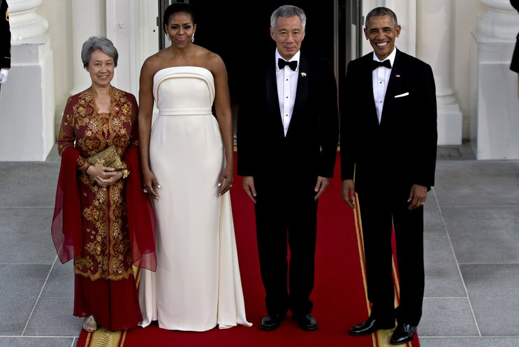 Brandon Maxwell Singapore State Dinner, Washington DC - August 2, 2016