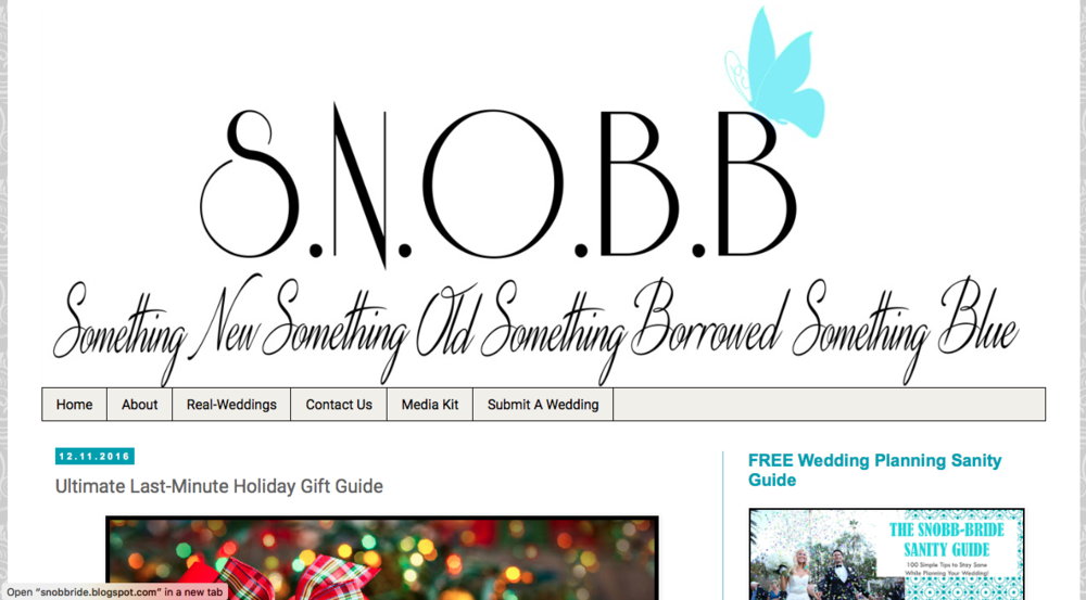 S.N.O.B.B. -   Ultimate Last-Minute Holiday Gift Guide, 12/11/16