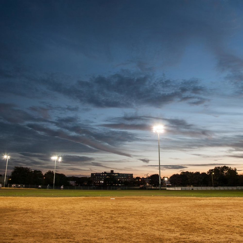 Dusk on a Softball Field in Brighton