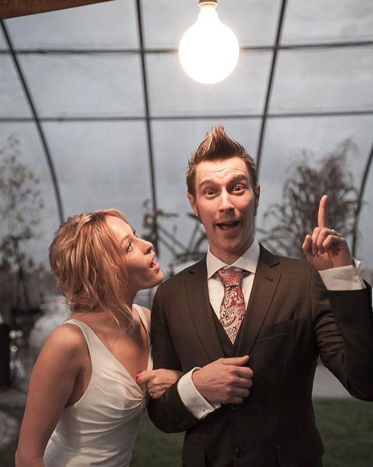 Still my all-time favorite wedding photo.  #wedding #eureka #bride #groom #portrait