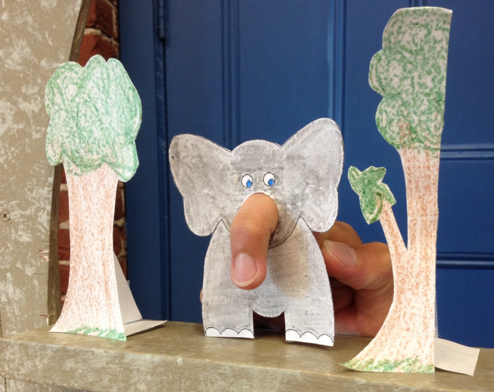 Make Your Own Elephant Finger Puppet  U2014 Puppet Showplace