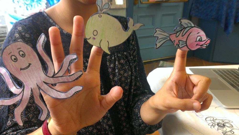 DIY: Ocean Finger Puppets!