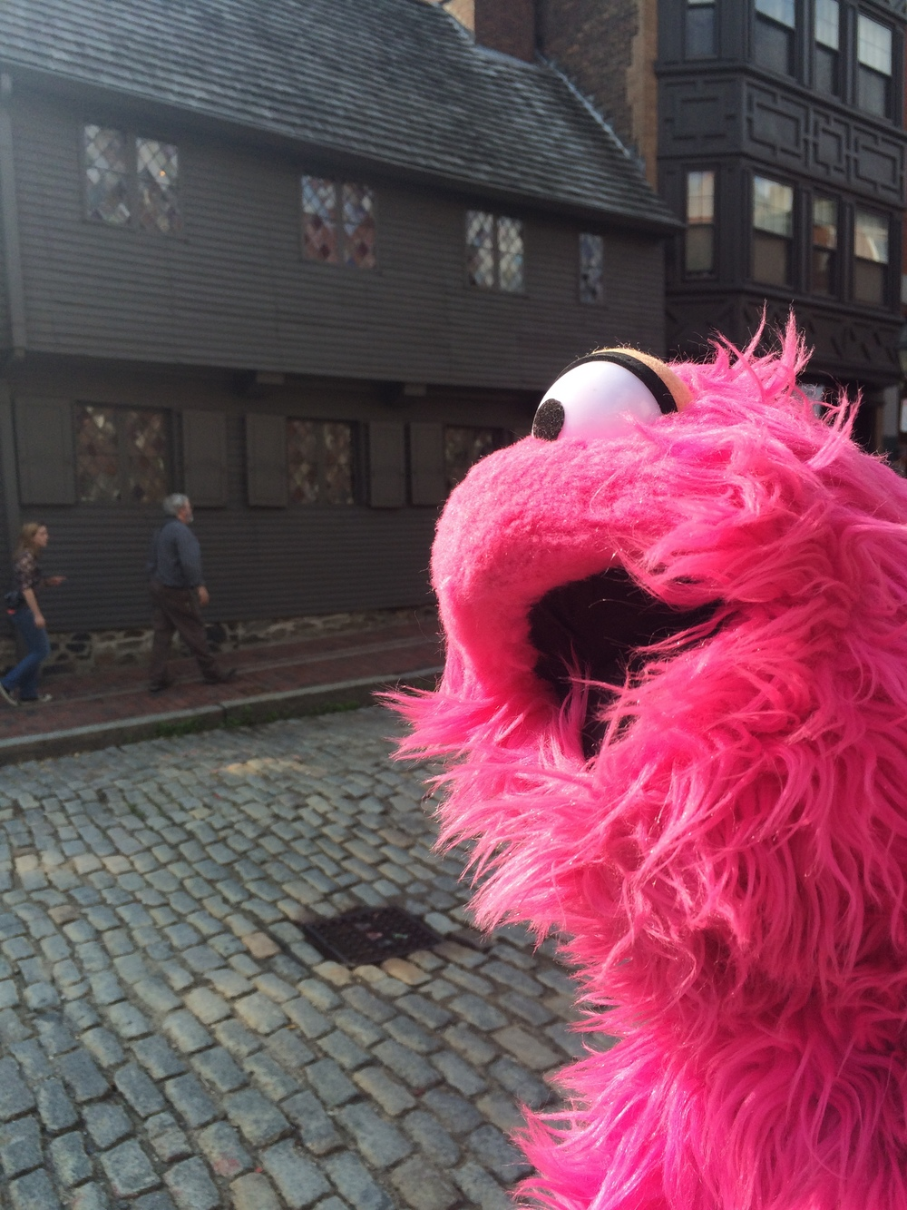 A picture of me at the Paul Revere House - One of the Stops on the Freedom Trail
