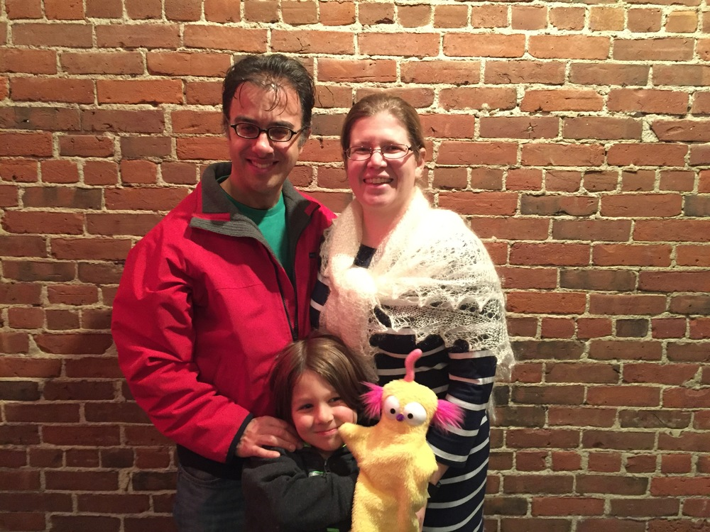 Alison Plante (Board of Trustees) with her family at Puppet Showplace