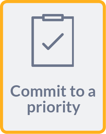 Commit to a priority