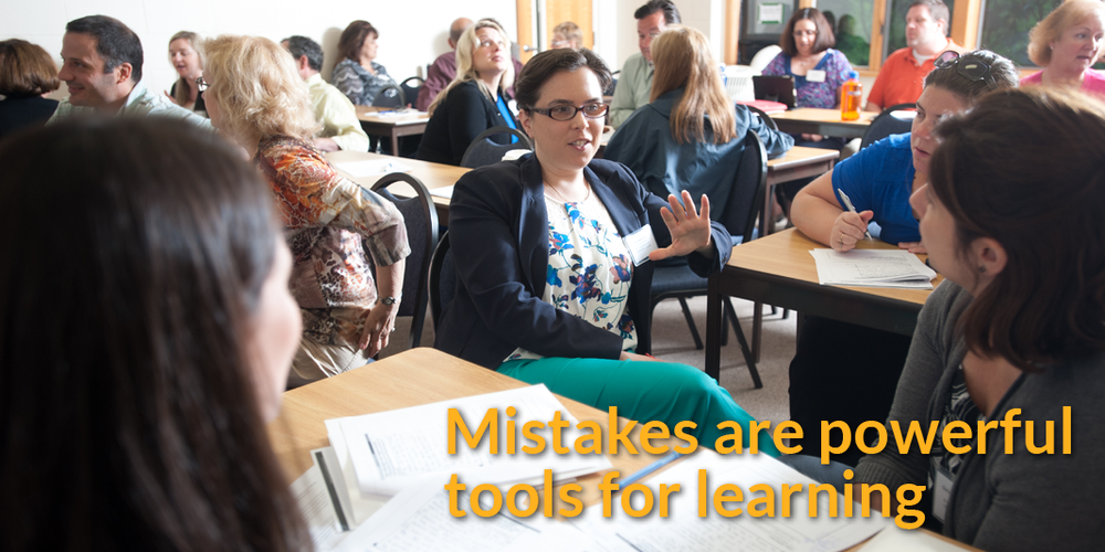 Mistakes are powerful tools for learning