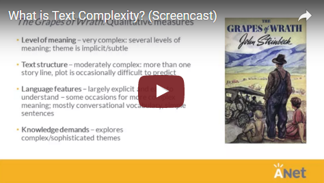 What is text complexity? screencast